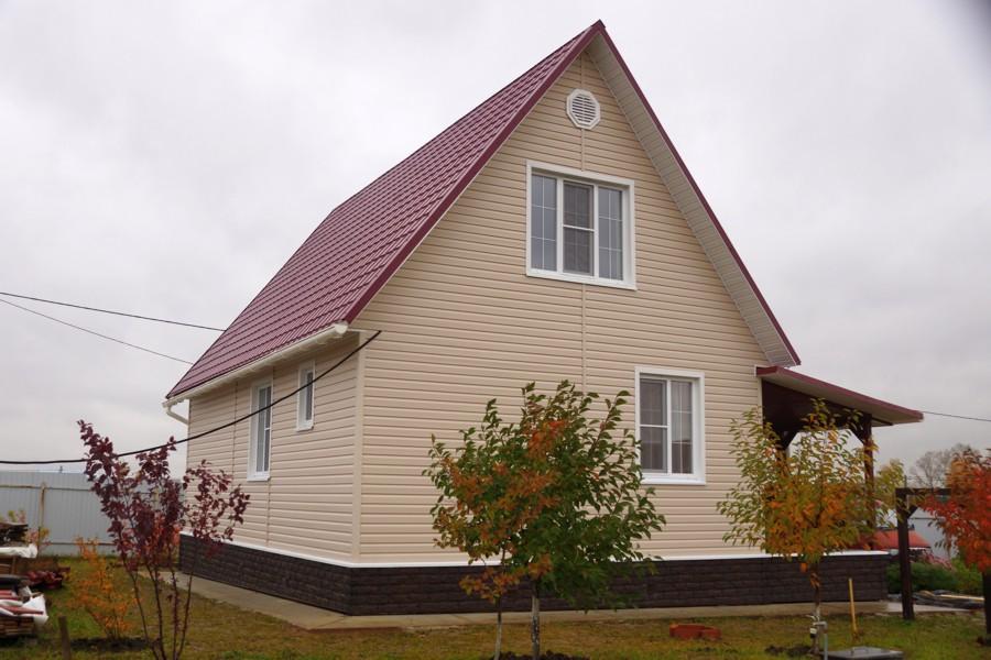 сайдинг бежевый фото домов